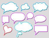 Bubbles for speech — Stock Vector