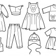 Children clothes - Stock Vector