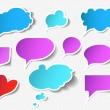 Stock Vector: Colorful speech bubbles and dialog balloons