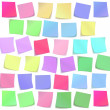 Color sticky notes set — Stock Vector