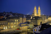 Zurich by night — Stock Photo