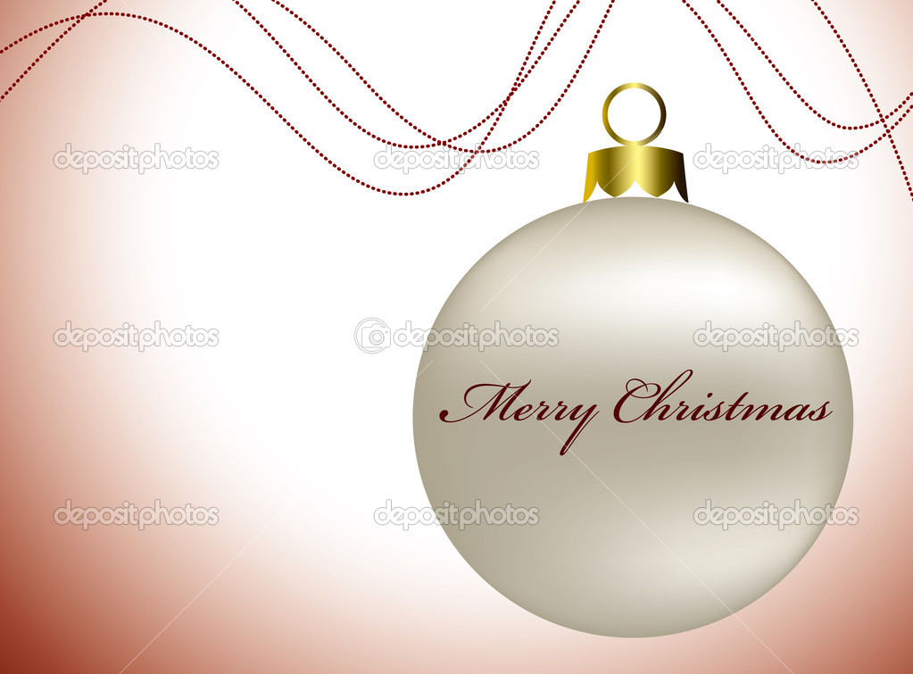 Merry Christmas ornaments on the white background — Stock Photo #4512418