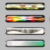 Banner horizontal abstracto con líneas de color — Foto de Stock
