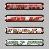 Horizontal banners to the Valentine's Day — Stock Photo
