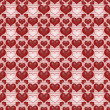 Seamless background Red Valentine's day background with hearts — Stock Photo