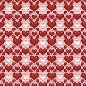 Seamless background Red Valentine's day background with hearts — Stok fotoğraf