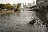 Singapore River, Water source for Singapore — Stock Photo