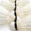 Badminton shuttlecocks as  background — Stock Photo