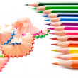 Stock Photo: Bright colored pencils