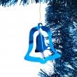 Blue Christmas tinsel — Stockfoto #4024123