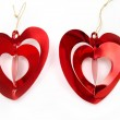 Bright red hearts — Stock Photo #4024697