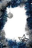 Vánoční ozdoby rámec — Stock fotografie