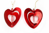 Bright red hearts — Stock Photo