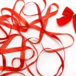 Bright red ribbons — Stock Photo #4192838
