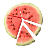 Watermelon sections — Stock Photo