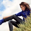 Stock fotografie: Beautiful womwearing boots