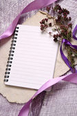 Romantic notes background — Stock Photo
