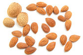 Almonds isolated — Stock Photo
