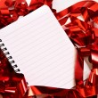Party background with writing-pad — Stock Photo
