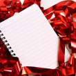 Party background with writing-pad — Stockfoto