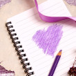 Valentine's notes background — Stockfoto