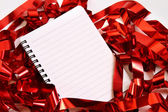 Party background with writing-pad — Foto Stock