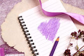 Valentine's notes background — Stock Photo