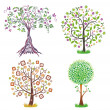 Royalty-Free Stock Vector Image: Set of colorful trees.