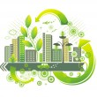 Stock Vector: Green city.