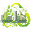 Green city. — Stockvectorbeeld