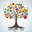 Abstract colorful tree. — Stock Vector