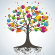 Royalty-Free Stock Vector Image: Abstract colorful tree.