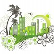 Royalty-Free Stock Vector Image: Green city with palm.