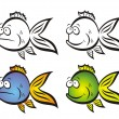 Funny fish. — Stock Vector