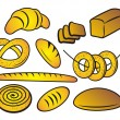 Stock Vector: Bakery products.