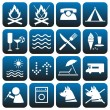 Icons set. Camping. — Stock Vector