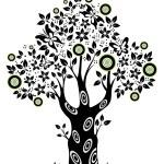 Summer tree. — Stock Vector