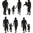 Set of family silhouettes. — Stock Vector #4178028