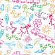 Royalty-Free Stock Vector Image: Children\'s drawings. Doodle background.
