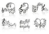 музыка примечание. набор. — Cтоковый вектор