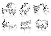 Music Note . Set. — Vector de stock