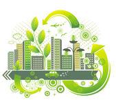 Green city. — Stock Vector