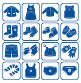 Child clothes set. — Vector de stock