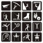 Sport icons set. — Stock Vector