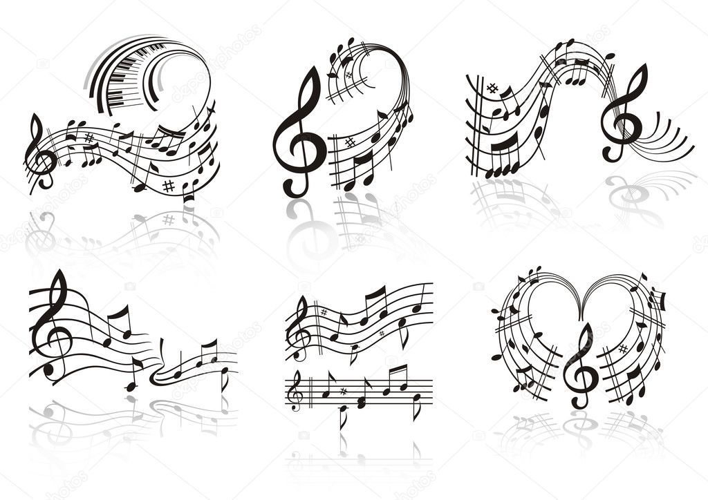 Music Note . Set.  Grafika wektorowa #4177544