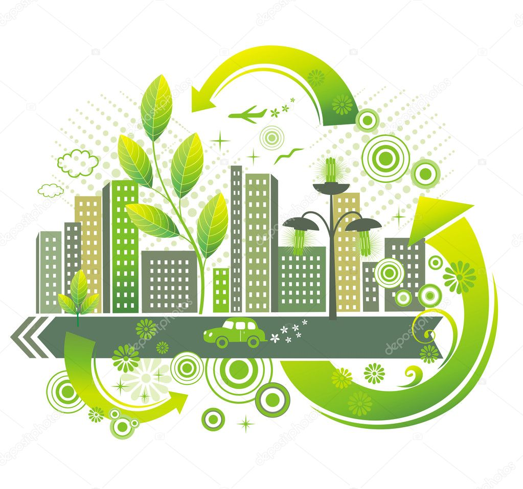 Green city.  Stock Vector #4177714