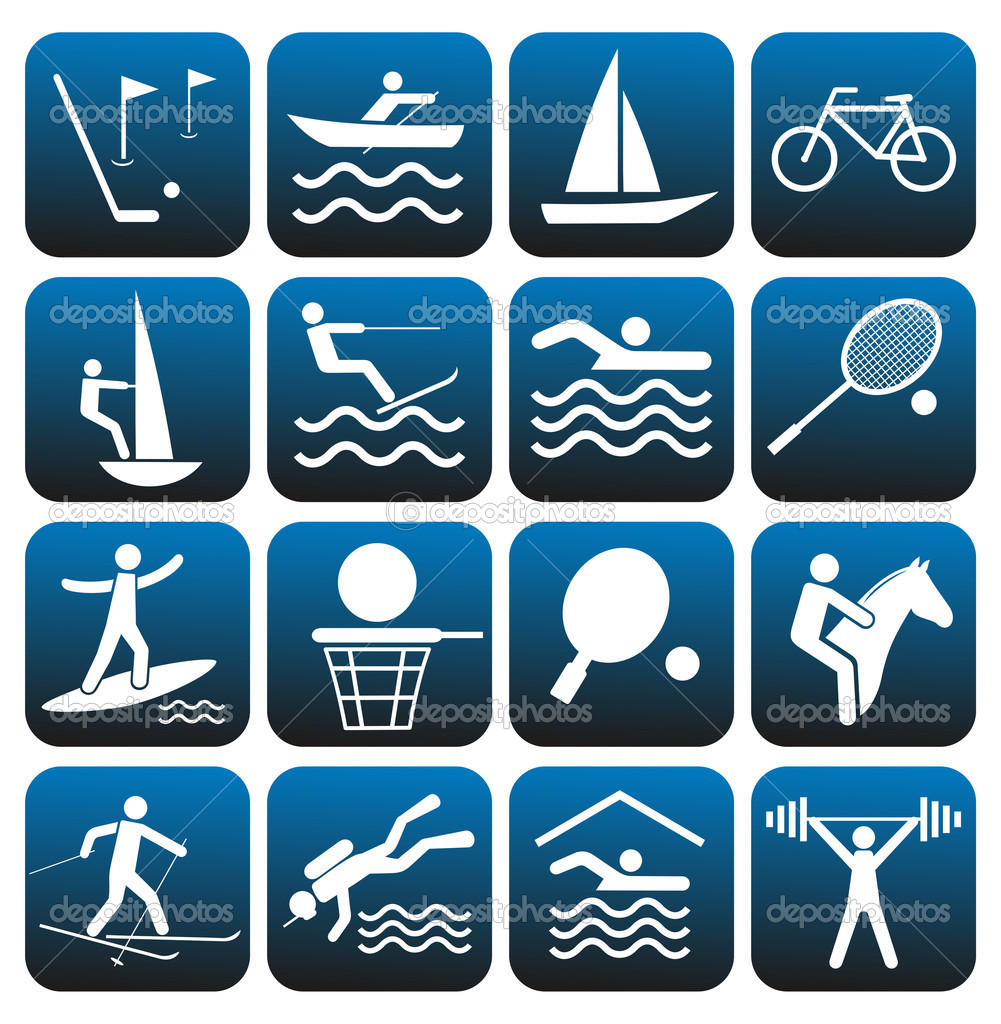 Sport icons set.    — Stock Vector #4177908