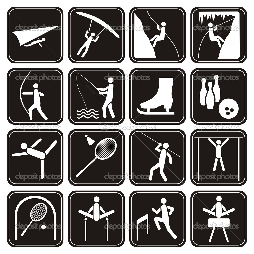 Sport icons set.   — Stock Vector #4177910