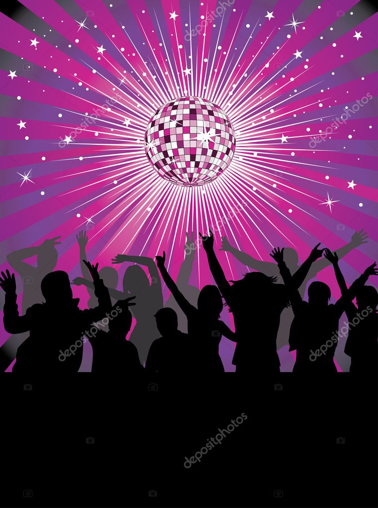 Nightlife in the disco club. — Stock Vector #4177961