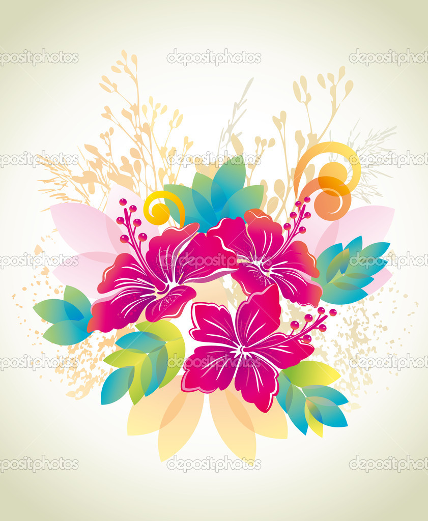 Hibiscus Floral background